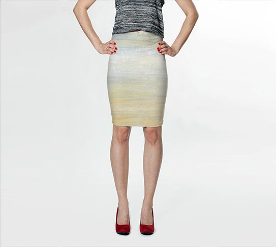 pastel skirt gray skirt pencil skirt fitted by