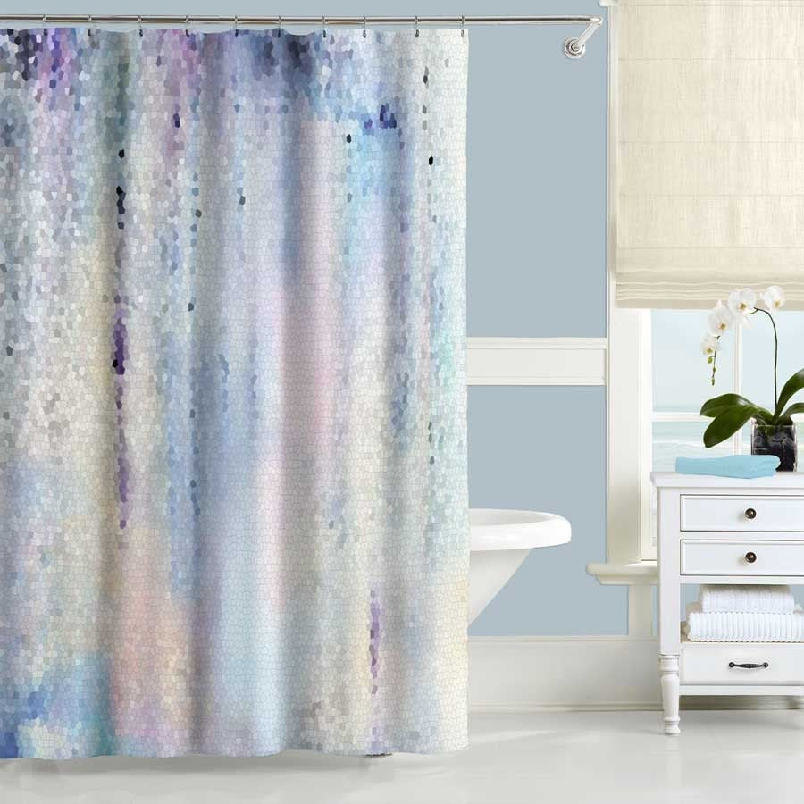 Blue Shower Curtain Purple Shower Curtain Abstract Shower