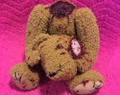 Beheaded Bobby is a Handmade Teddy Bear! Perfect gift for any holiday or event, with a twist. Made By Teddy Bear Nightmares