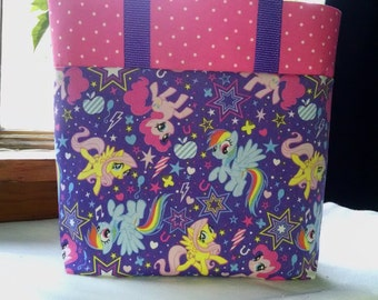 Girls My Little Pony Tote Bag Book Bag Girls Pony Library Tote