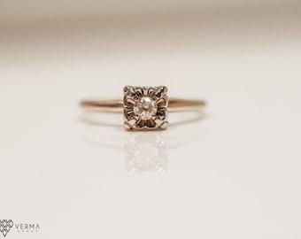 Antique Diamond Engagement Ring  VEG #21A