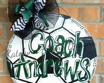 Soccer Ball Door Hanger