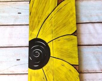 Rustic Sunflower wood wall art / Kids Room art/ Living room/ Bathroom/ bedroom/ Kitchen