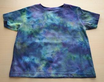 Hand Dyed Toddler Shirt - Hand Dyed Baby Shirt - Blue Green Shirt
