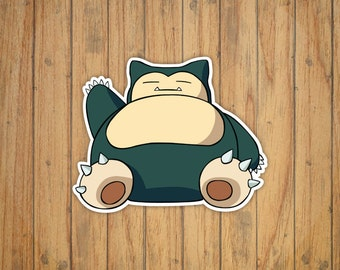 Snorlax Pokemon Decal/Sticker