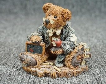 Boyds Bears & Friends Wilson The Perfesser Figurine C. 1993
