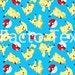 Pokemon- Pikachu custom digitla printing fabric - 1 meter