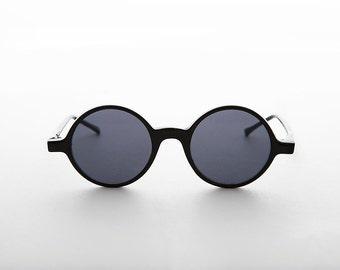 Vintage Retro Round Circle John Lennon Victorian Sunglass - Sienna