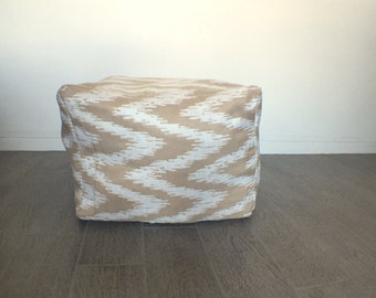 Made to Order Square Pouf Ottoman -- Hand-made