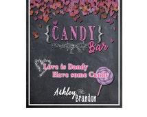 Wedding Candy Bar  / Wedding Candy Buffet / Chalkboard Candy Bar Sign