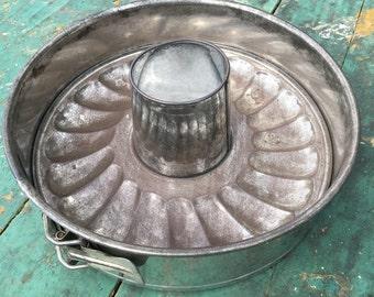 Vintage Springform Metal Bundt Pan