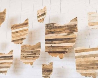 Ohio - Reclaimed Wood Cutout