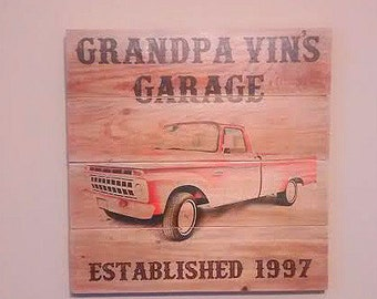 Customized Garage Plaque Sign - Wooden Plaque Garage Sign - Shop Plaque - Personalized Garage Sign - Classic Car Sign