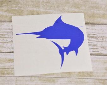 Marlin Fish Car Laptop Vinyl Decal Sticker