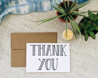 "Thank You 4""x6"" Greeting Card - Print"