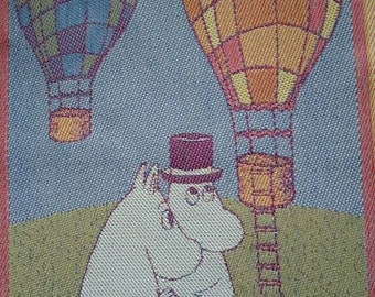 """Moomin Towel. 35 cm x 50 cm. """"14x20"""" Air. Moomin Characters. Made in Sweden"""