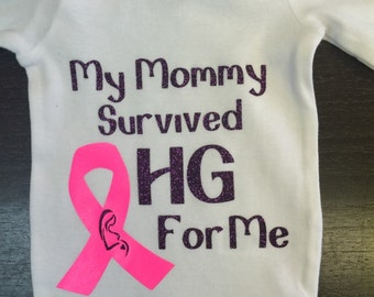 HG awareness Long Sleeve Baby Onesie