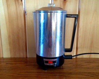 Electric Coffee Percolator - Vintage Coffee Percolator - Electric Coffee Maker - Vintage Coffee