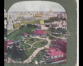 St. Louis 1904 World's Fair Stereoscope Card Birdseye View