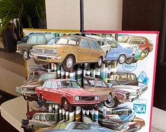 Ladybird ' Motor Cars' Recognition Series Unique Vintage Book Sculpture