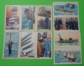 Vintage Cigarette Card Gallaher Ltd The Navy 1937 Park Drive at base on Back