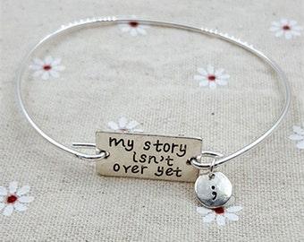 1pc Letters Bracelet Cuff My Story Isn't Over Yet Bracelet Cuff ZT1001