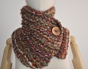 Wool Chunky Knit Cowl Neckwarmer | THE MYSIG | Creek