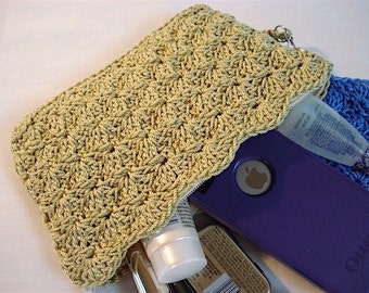Clutch Crochet PATTERN | Nestled Shells | Makeup Bag | Pencil Case | Accessory | Clutch Bag | Handbag | Gifts for Women, Teens, Girls