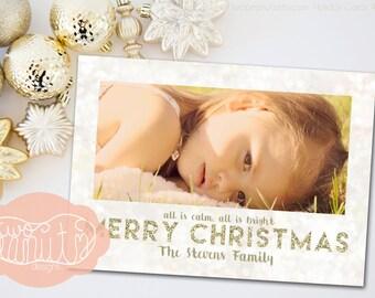Merry Christmas Happy Holiday Card Seasonal Greeting Card Printable Digital File