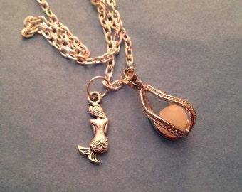 Glow in the Dark Mermaids Tears  Mermaid Necklace