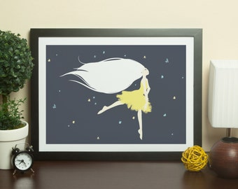Dance Amongst The Stars - A5 Illustration Print