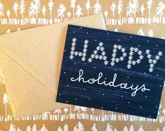 Snowy Happy Holidays Card