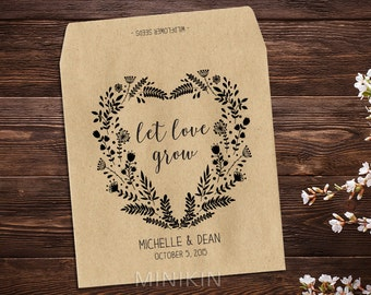 Seed Packet Favors, Seed Packet, Rustic Wedding, Seed Wedding Favor, Barn Wedding, Wildflower Seeds, Custom Favor, Personalized Favors x 25