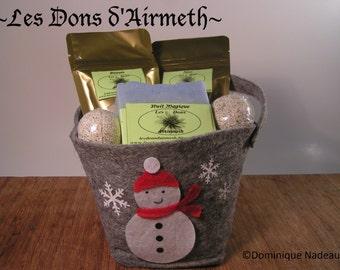 Gift baskets for Christmas craft, vegan (handwork, vegan christmas gift basket)