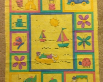 Sale Moda schools out fabric panel wall hanging lap quilt