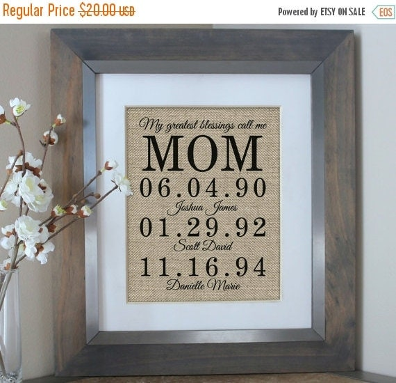 Personalized Gift For Mom Mother 39 S Day Gift By Emmaandthebean