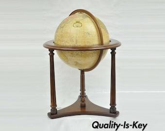 """Replogle Lafayette Illuminated 16"""" Floor Heirloom Globe Antiqued"""