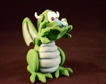 Dragon Figurine, polymer clay.
