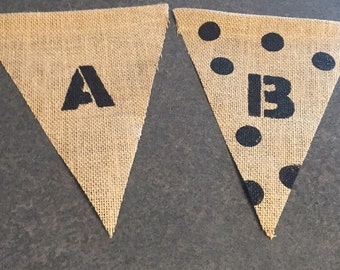 Burlap Banner triangles
