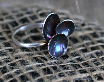 Sterling Silver Galaxy Ring, sz 8.5