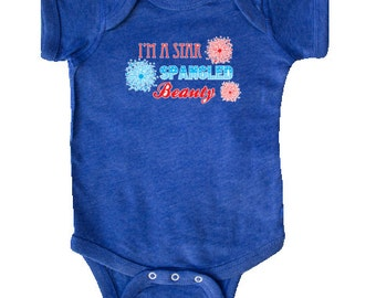 Star Spangled Beauty Infant Creeper by Inktastic