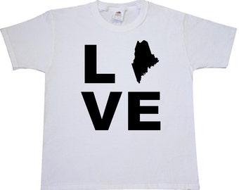 Love Maine Youth T-Shirt by Inktastic