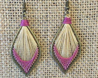 Hand-threaded Earrings