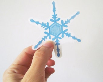 Snowflakes vinyl wall decals (small)