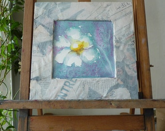 Original Watercolour: white flower