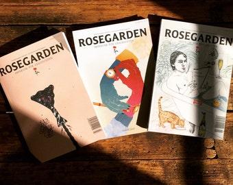 ROSE GARDEN subscription. Three editions.