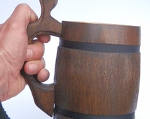 Pine-tree Mug 0.5l-traditional containers for beer lovers! Pine,original ecological Wood. Beer mug made by hand from natural wood pine