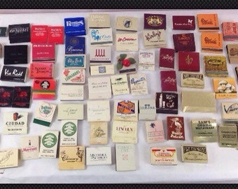 Lot of 70+ Vintage 80s Match Boxes & Books Great Colors for Projects