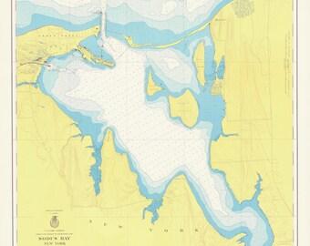 Great Sodus Bay - New York - Lake Ontario Historical Map 1949