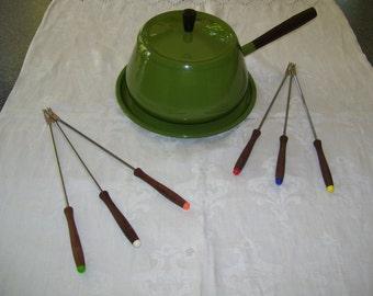 Avocado Green Fondue Pot Green Fondue Pot Vintage 70s